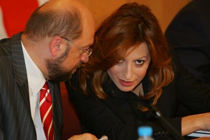 With the President of EP Martin Schulz